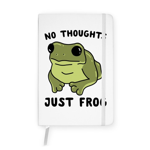 No Thoughts, Just Frog Notebook