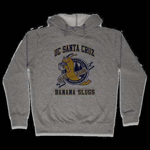 UC Santa Cruz Banana Slugs Vincent (Pair Shirt) Hooded Sweatshirt