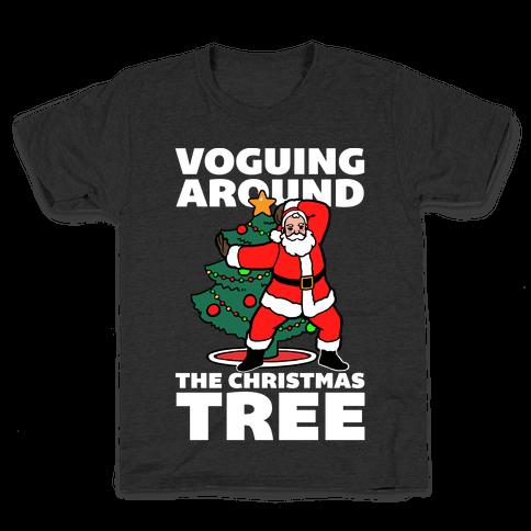 Voguing Around The Christmas Tree Kids T-Shirt