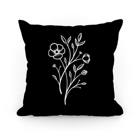 Wildflower Stippled Tattoo Pillow