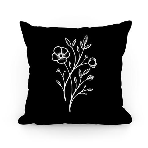 Wildflower Stippled Tattoo Pillow