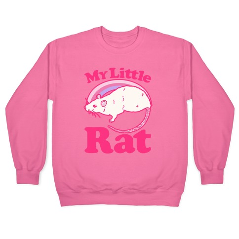 My Little Rat Parody White Print Pullover