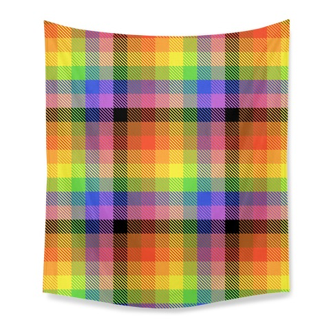 Pride Flag Plaid Tapestry