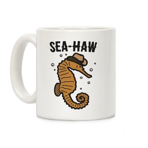 Sea Haw Seahorse Cowboy Coffee Mug