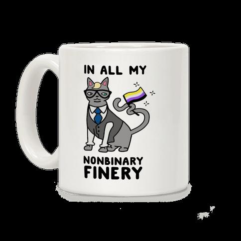 Nonbinary Finery Feline Coffee Mug