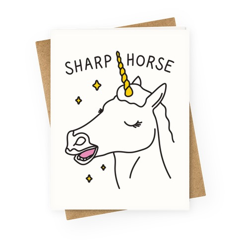 Sharp Horse Greeting Card