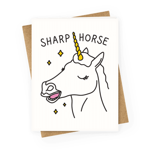 Sharp Horse Greeting Card