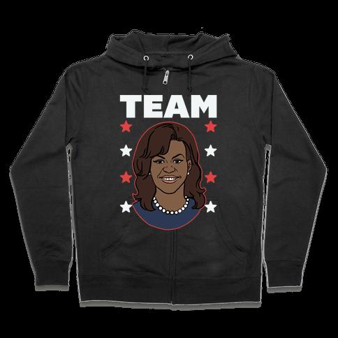 Tag Team Barack & Michelle Obama 2 Zip Hoodie