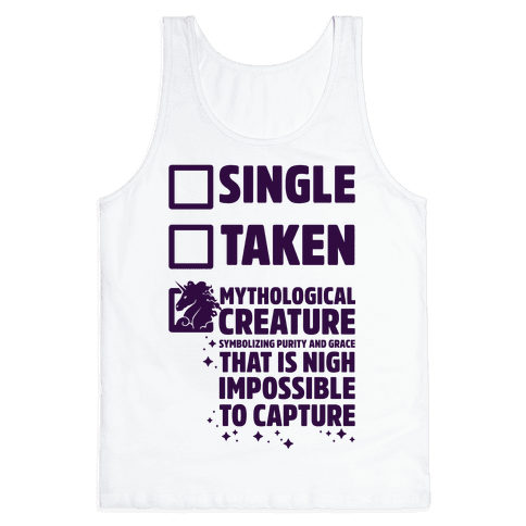 Single Taken Mythological Creature Tank Top