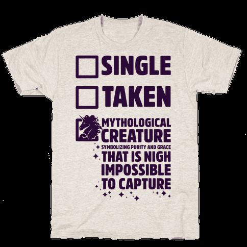 Single Taken Mythological Creature Mens T-Shirt