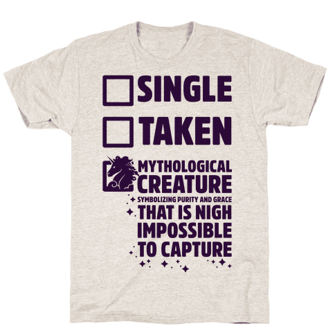 Single Taken Mythological Creature Mens T-Shirt
