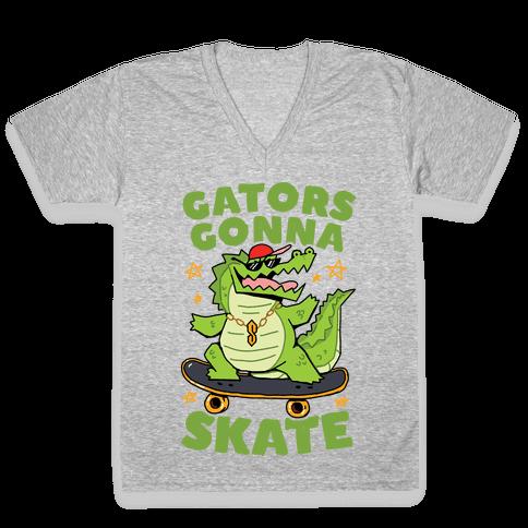 Gators Gonna Skate V-Neck Tee Shirt