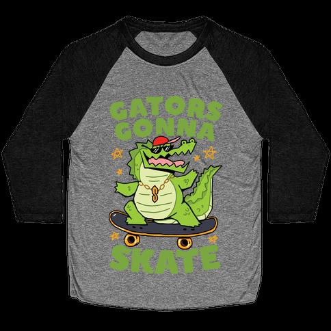 Gators Gonna Skate Baseball Tee