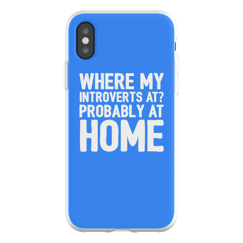 Where My Introverts At Phone Flexi-Case