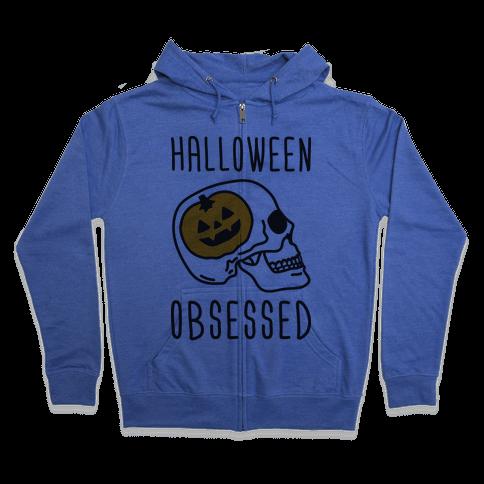 Halloween Obsessed Zip Hoodie