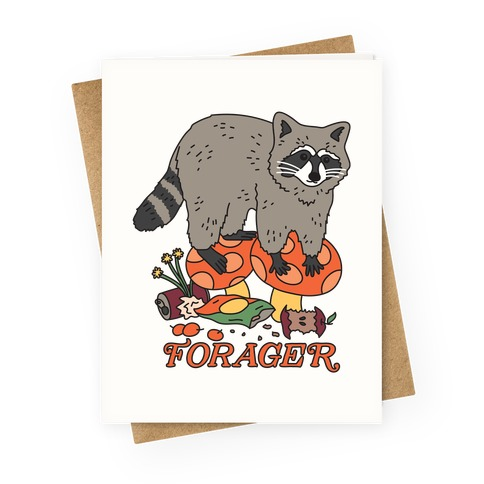 Forager Raccoon Greeting Card