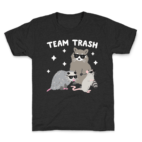Team Trash Opossum Raccoon Rat Kids T-Shirt