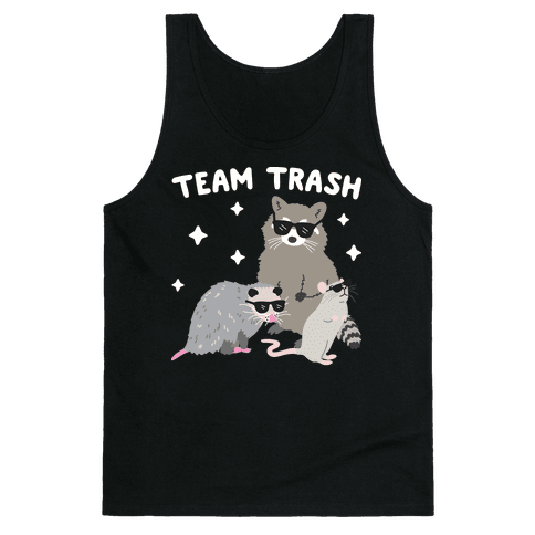 Team Trash Opossum Raccoon Rat Tank Top