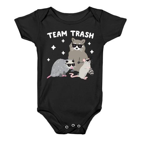 Team Trash Opossum Raccoon Rat Baby Onesy