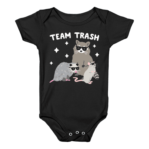 Team Trash Opossum Raccoon Rat Baby Onesy