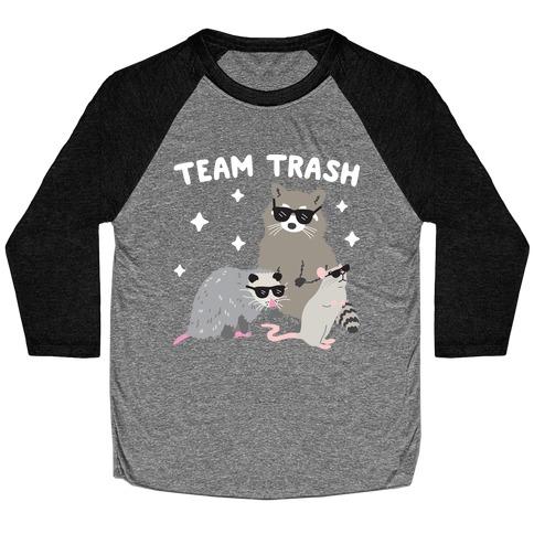 Team Trash Opossum Raccoon Rat Baseball Tee