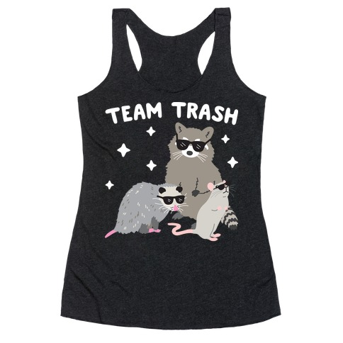Team Trash Opossum Raccoon Rat Racerback Tank Top