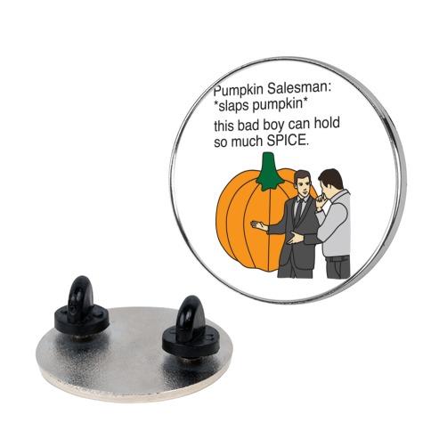 Pumpkin Salesman Pin