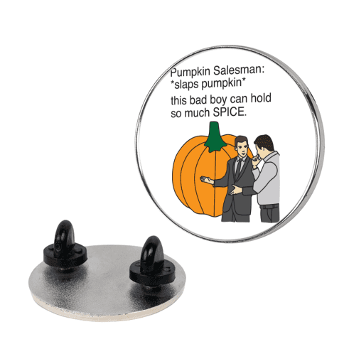 Pumpkin Salesman Pin