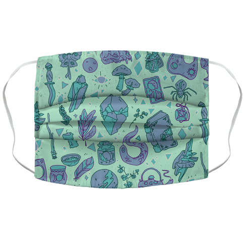 Witchy Pattern Face Mask Cover
