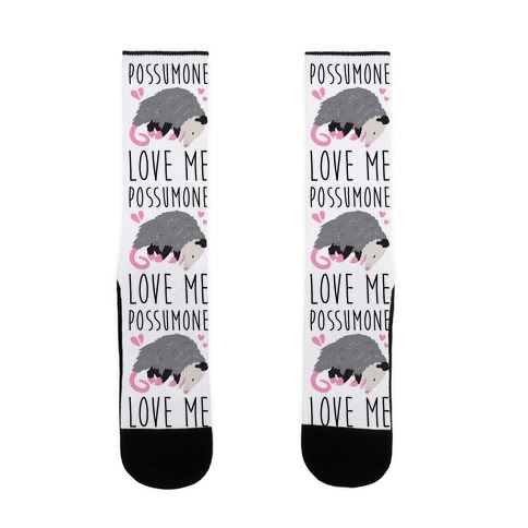 Possumone Love Me Opossum Sock