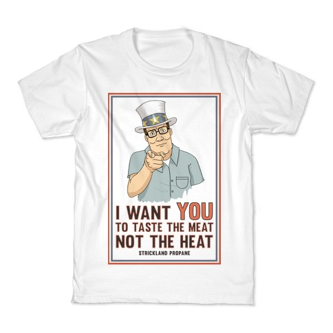 I want YOU to taste the meat, not the heat Kids T-Shirt