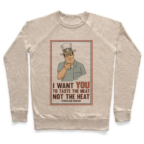 I want YOU to taste the meat, not the heat Pullover