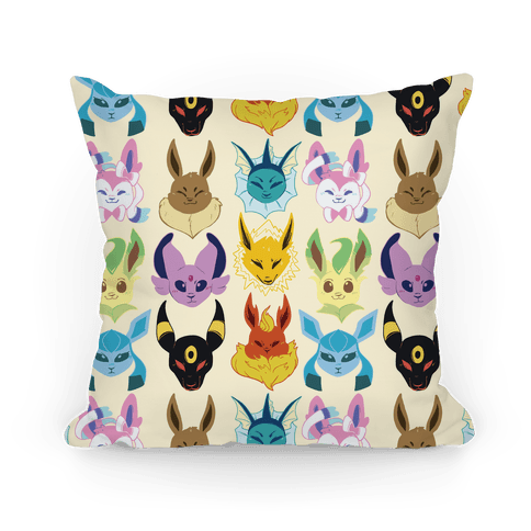 Eeveelution Pattern Pillow
