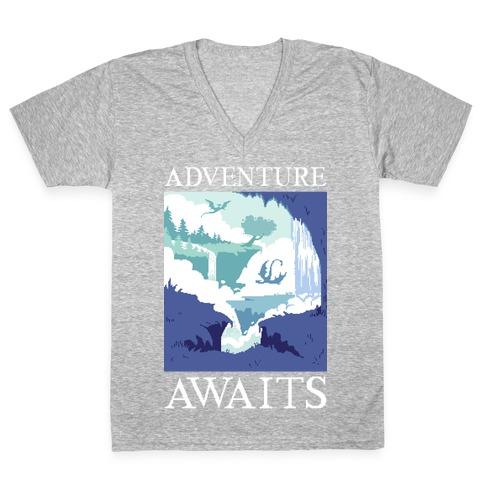 Adventure Awaits V-Neck Tee Shirt