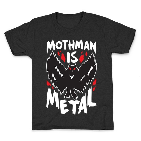 Mothman Is Metal Kids T-Shirt