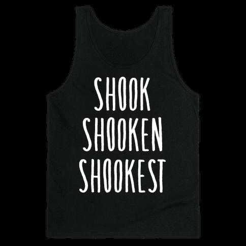 Shook Shooken Shookest White Print Tank Top