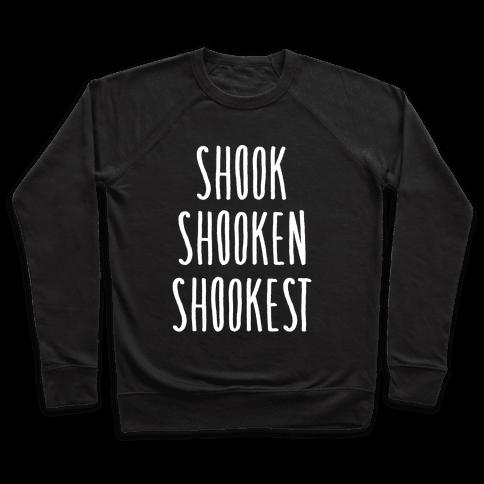 Shook Shooken Shookest White Print Pullover