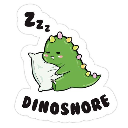Dinosnore Die Cut Sticker