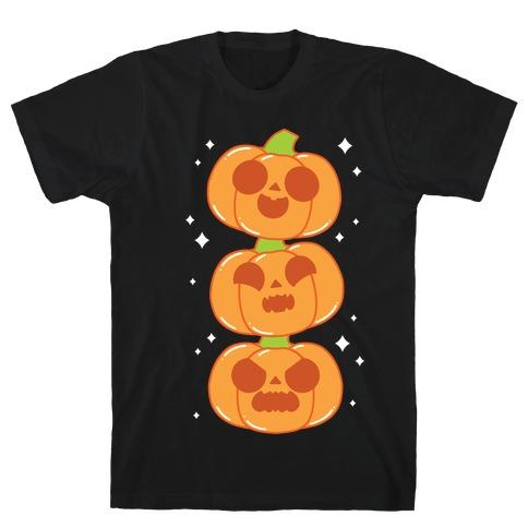 Kawaii Pumpkin Trio Orange T-Shirt