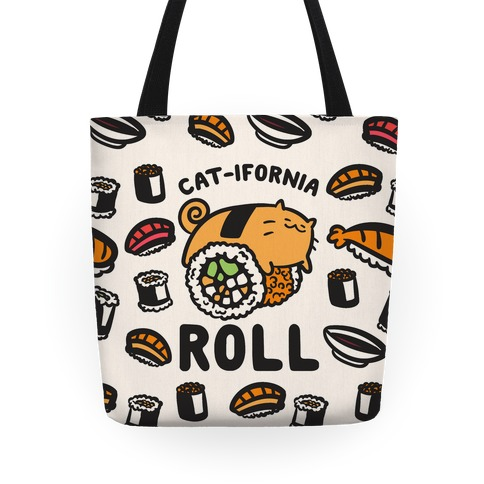 California Cat Roll Tote