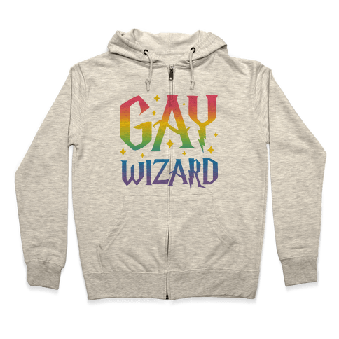 Gay Wizard Zip Hoodie