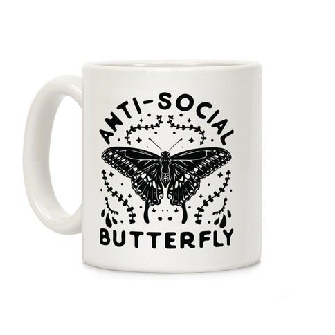 Anti-Social Butterfly Coffee Mug