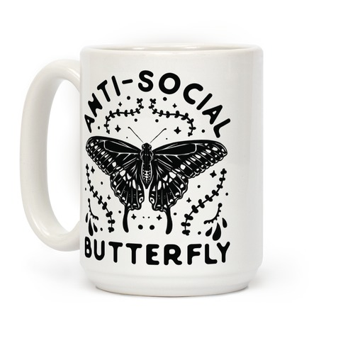 Anti-Social Butterfly Coffee Mug