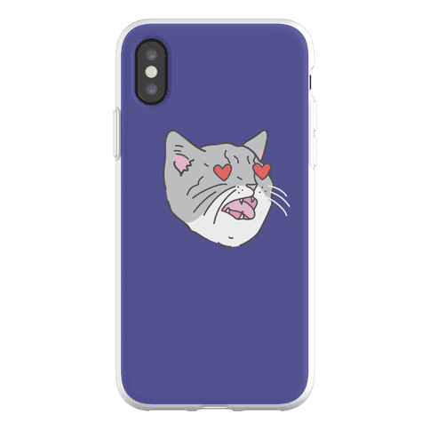 Cat With Heart Eyes Phone Flexi-Case