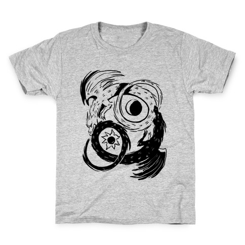 Dark-Light Ouroboros Kids T-Shirt