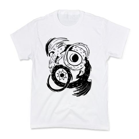 Dark-Light Ouroboros Kids T-Shirt