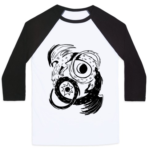Dark-Light Ouroboros Baseball Tee