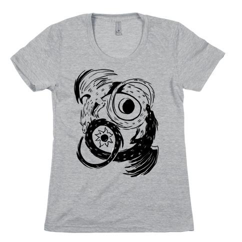 Dark-Light Ouroboros Womens T-Shirt