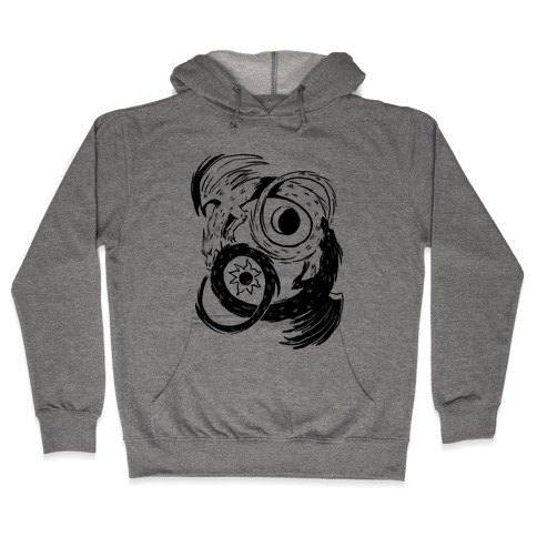 Dark-Light Ouroboros Hooded Sweatshirt