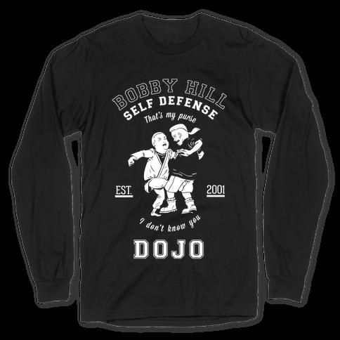 Bobby Hill Self Defense Dojo Long Sleeve T-Shirt
